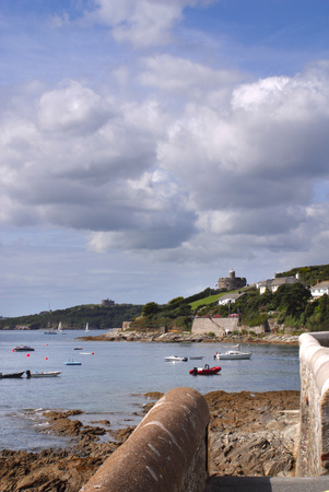 Summer sunshine on the picturesque coastal destination of St Mawes, Cornwall, UK Stock Photo