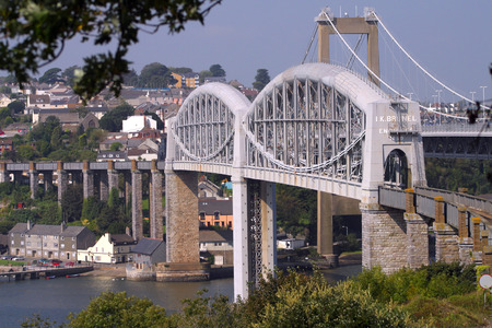 England, Cornwall, Devon, West Country, Saltash, Tamar, Brunels rail bridge