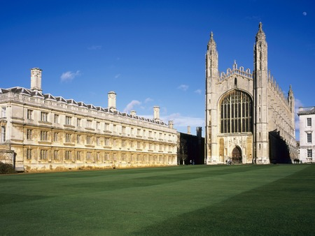 England, Cambridge, Kings College Chapel in spring sunshine