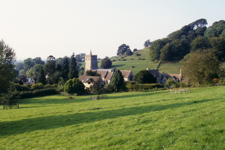 The tiny hamlet of Hawkesbury in remote rural countryside, Gloucestershire, UK