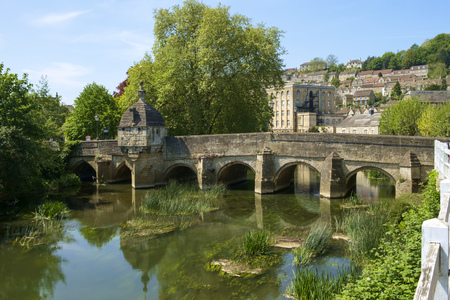 Historic Town Bridge and Lock-up, Bradford-on-Avon, Wiltshire, UK