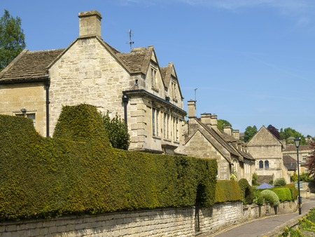 Quaint old homes around the church, Bradford-on-Avon, Wiltshire, UK Stock Photo