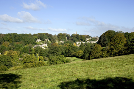 England, Cotswolds, Gloucestershire, Bisley, late summer view Stock Photo
