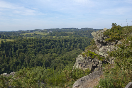 Viewpoint and nature reserve of La Roche dOetre, Orne, Normandy, France Stock Photo