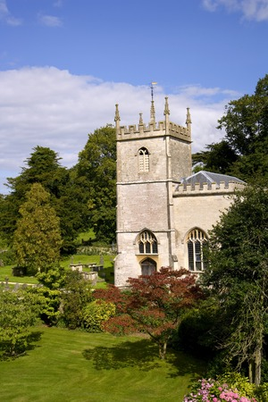 Europe, England, Gloucestershire, the pretty traditional small country church at Alderley