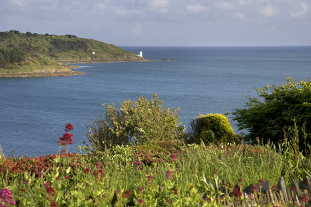 England, Cornwall, view to St Anthony Head and lighthouse