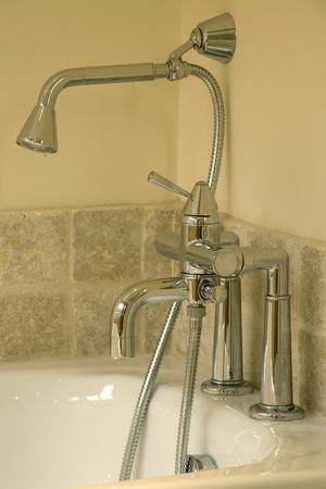 Showhome bathroom, brand new bath taps and shower head