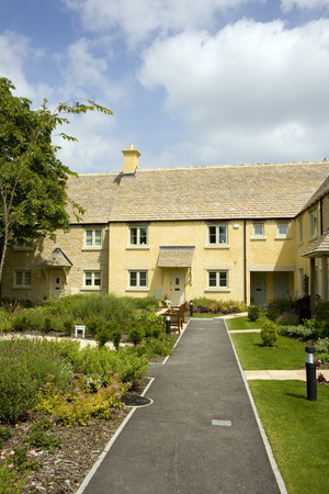 A new retirement housing development in Gloucestershire, UK