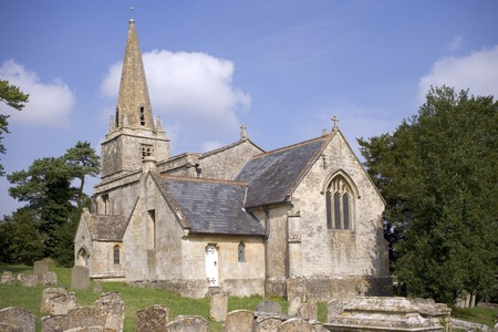 England, Gloucestershire, Cotswolds, Aldsworth, small rural country church Stock Photo