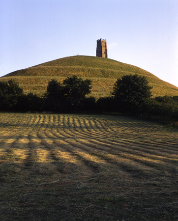 England, Somerset Levels, Somerset, Wessex, Glastonbury, Glastonbury Tor 写真素材