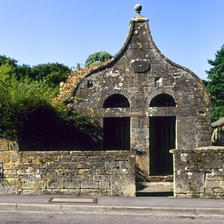 The Old Lock Up, Bisley, Cotswolds, Gloucestershire, UK Stock Photo
