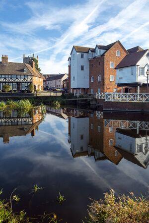 Restored Abbey Mill at Tewkesbury, Gloucestershire, Severn Vale, England, UK, Europe