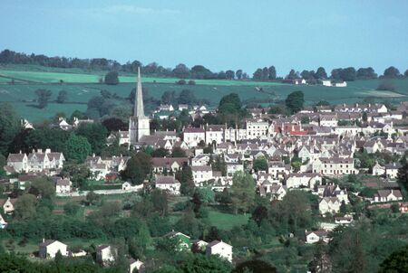 c1986: England, Gloucestershire, Cotswolds, Painswick, view