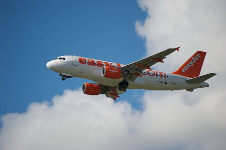 scheduled: Dateline:21 July 2010 16:33 BST Easy jet scheduled flight takes off from Newcastle Airport
