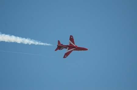daredevil: Red Arrows perform over the finish line of the 2011 Great North Run at Sth Shields