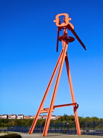 fulcrum: Giant weather vane at Port of Tyne quayside