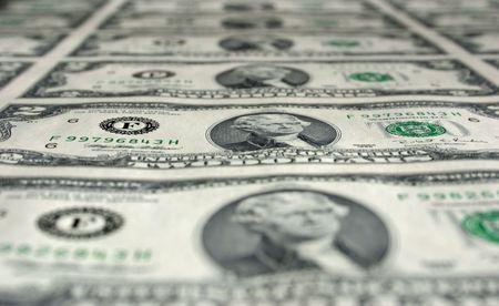 Een Uncut Fiche of Two Dollar Bills Stockfoto - 3101649