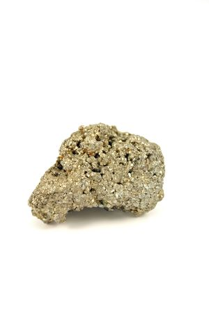 Pyrite isolated on white background