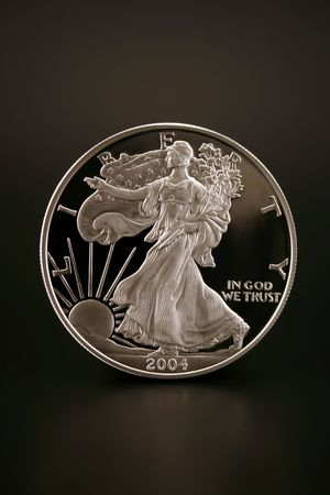 One American Eagle Silver Bullion Coin (legal tender)  Stock Photo - 3171962