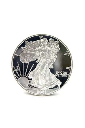 One American Eagle Silver Bullion Coin (legal tender) Stock Photo - 3171961