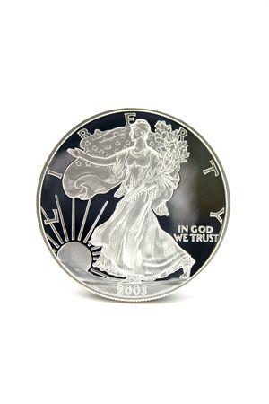 silver coins: One American Eagle Silver Bullion Coin (legal tender)