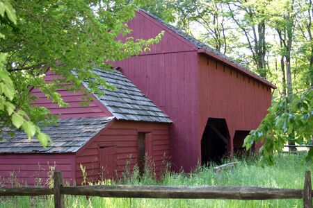 reb: An old red barn in Morristown, NJ