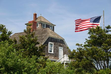 guard house: An old Life Saving Station in Sandy Hook, NJ