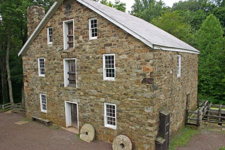 gristmill: Cooper Mill in Black River Park, NJ Stock Photo