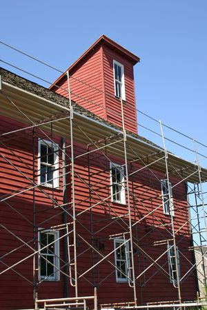 gristmill: The historic Red Mill in Clinton, NJ undergoing renovations