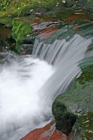 Een waterval in de Pocono Mountains van Pennsylvania Stockfoto - 3651854