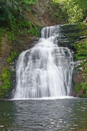 A waterfall located in the Pocono Mountains of Pennsylvania Banco de Imagens
