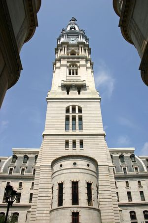 One side of the Philadelphia City Hall building photo