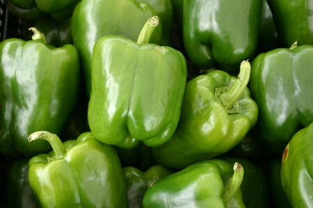 A large group of beautiful green peppers Stock Photo - 3719415