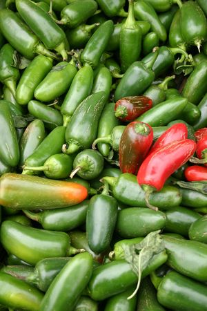 A large group of pretty Jalapeno peppers Stock Photo - 3719424