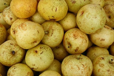 A large group of beautiful yellow pears Stock Photo - 3719431