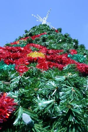 tannenbaum: Looking up from below an artificial Christmas tree