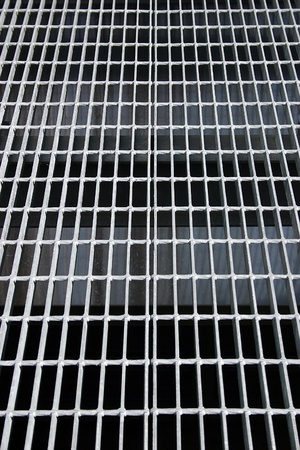 The pattern of a grate suitable for backgrounds