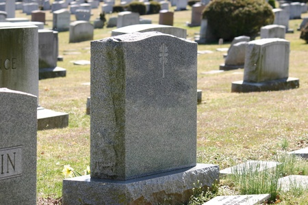 cemeteries: Headstones in a cemetery in New Jersey Stock Photo