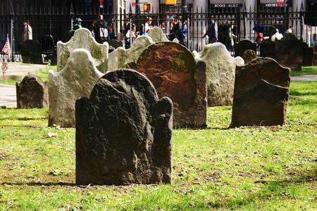 Headstones in a very old church in New York City Zdjęcie Seryjne