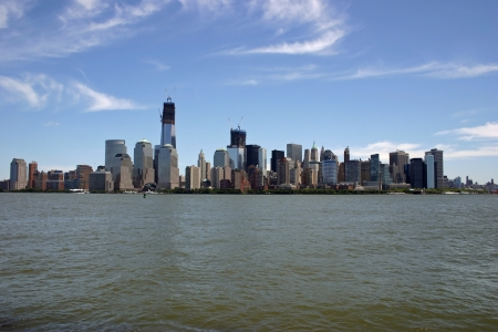 wtc: A view of lower Manhattan from across the Hudson River