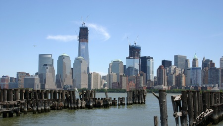 A view of lower Manhattan from across the Hudson River photo