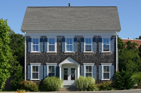 cape cod style: Een traditionele Cape Cod huis in Provincetown, Massachusetts