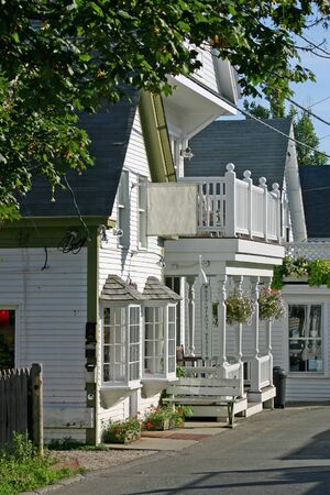 cape cod style: A quaint New England storefront in Provincetown, Massachusetts