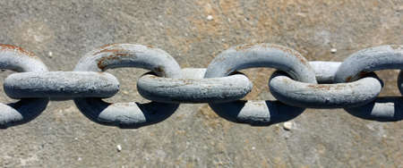 Close-up of several links on an industrial chain Stock Photo - 17625195