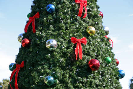 A close up of an artificial Christmas tree Stock Photo - 17625279
