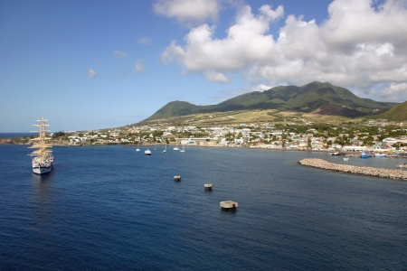A view of the port of Basseterre in St. Kitts, West Indies