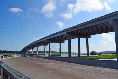 Een weergave van een brug in Hilton Head, South Carolina Stockfoto - 23286473