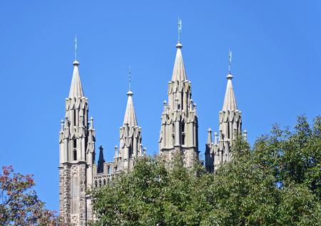 De kapel spitsen aan de Princeton University in New Jersey Stockfoto - 24358798