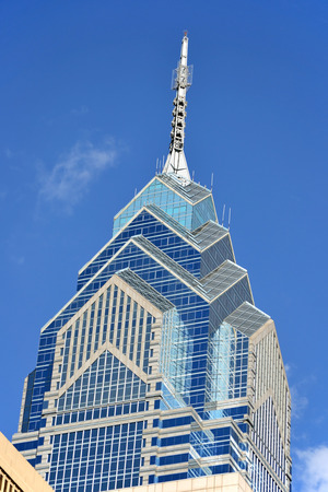 A view of One Liberty Place in Philadelphia, Pennsylvania