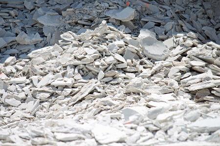 cement pile: Broken up concrete pieces in a construction site Stock Photo